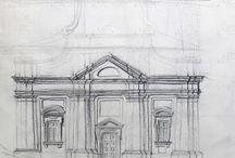 ze szkicownika nastolatka / Moja architektoniczna pasja zrodziła sie gdy jeszcze byłem małym dzieckiem i była inspiracją do wielu rysunków. Większość z nich powstawała gdy miałem 15-20 lat. Moim natchnieniem była głównie architektura polska,oraz francuski i angielski gotyk. Wszystkie rysowane budowle są wymyślone, a podobieństwo do istniejących jest całkowicie przypadkowe