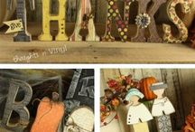 Creative wood letters ideas