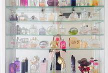 Perfume display, cabinet