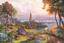 Klaus Strubel / Counted cross Stitch Charts based on the licensed artwork of Klaus Strubel