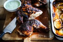 portuguese chicken and food