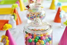 Rainbow candy jars
