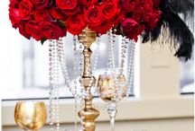 Wedding deco - Red and Gold