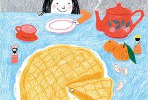 sweet illustrations (cakes)