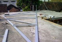 Pekerjan Rangka Atap Baja Ringan Mr. Eko Residence , Madiun Indonesia