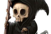 Skulls angels demons