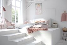 Light White Bedrooms for Rest and Relaxation / Everyone needs their bedroom to be attractive and charming one.White is a vibrant and bright color with an endless number of decorating possibilities.