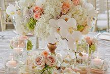 Peach / coral wedding