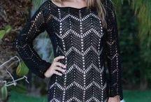 vestidos y blusas crochet