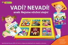 Vadí? Nevadí? aneb Nejsme všichni stejní / Vadí? Nevadí! je společenská hra pro děti od 3 let. Učí děti respektu a toleranci.