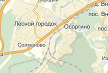 карты Москвы