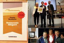 Premios del Restaurante Aitzgorri de Donostia-San Sebastián / En este tablero te mostraremos los premios otorgados al Restaurante Aitzgorri de Donostia-San Sebastián. En 2016 el Aitzgorri recibió el premio al Restaurante revelación del año, en los Premios Más Gastronomía