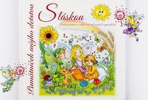 """My Childhood Memory Book """"With Love"""" / Book that preserves memories of those wonderful moments of childhood and the loved ones who stood at the beginning of the child's life journey. Both books are full of charming illustrations, painted by Slovak authors specifically for these books. http://www.booksofwishes.eu/ kontakt@knihypriani.sk"""