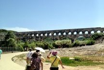 Pont du Gard, France / One of the most popular sights in France is the Pont du Gard that was built in the 1st Century to supply water to the Roman city of Nimes in the south of France. Learn more at barefootblogger.fr