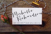 Custom Personalized Calligraphy, Lettering and Brush Script Work | Sunlit Letterpress / Customize and personalize your own calligraphy, hand-lettered, and brush script logos, business cards, and other stationery and graphics with Sunlit Letterpress.