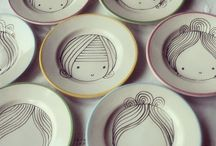 porcelain painting / personalize your mugs, bowls and plates !