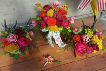 Wedding: April Showers / Bright vibrant colored wedding bouquets