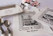 Meseros de boda (Loveratory) / Meseros para las mesas de los banquetes de boda diseñados por Loveratory