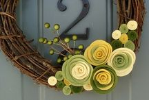 front door decor / by Keli Sanford Budinich