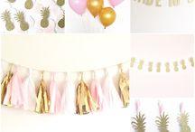 Flamingo pineapple bridal shower