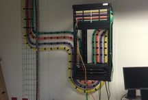 Cabling installation / Integrated home cabling installation.