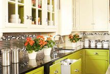 Kitchens with Colorful Cabinets!