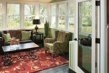Sunrooms / Sunroom additions allow more space to the home. They can be all weather or 3 season.