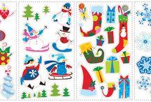 Stickere pentru Iarna si Craciun/ Sticker Winter and Christmas / Stickere pentru Iarna si Craciun/ Sticker Winter and Christmas ce vor aduce bucuria sarbatorilor de iarna mai aproape de noi.
