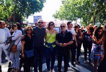 Manifestación por la bajada de IVA en peluquería y estética.