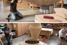 Skulpturale Leuchten Von David Trubridge Wurden In Einer Treewalk In Neuseeland Aufgenommen
