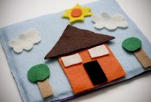 books and other cute stuff made out of felt