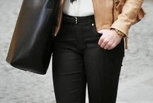 karla cronje / A black jean , stylish brown jacket , sexy heels and high cute ponytail...