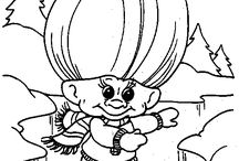 Coloring pages Trolls