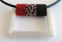 Peyote - náhrdelníky šité / Náhrdelníky