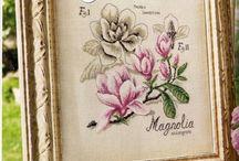 Ботаника( вышивка)