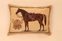 Coussins décorés avec des chevaux / Coussins décorés avec des chevaux