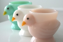 Egg Holders / Vintage Egg Holders / by Mary Hoffman