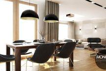 Elegancki, przytulny dom w Katowicach / To nasz kolejny projekt eleganckiego i przytulnego domu w Katowicach. Dużo światła, dużo przestrzeni i ciepłych brązowo-beżowych barw to motywy przewodnie zaprojektowanego wnętrza. Zastosowane rozwiązanie łączenia różnych materiałów pokazuje w jak ciekawy sposób można tworzyć pomimo różnorodności jedną całość.   Po więcej inspiracji zapraszamy na nasza stronę:http://monostudio.pl/portfolio_item/elegancki-przytulny-dom-katowicach/ oraz na Facebooka.
