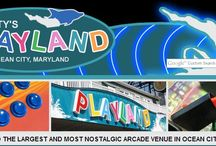 Boardwalk in Ocean City MD / Ocean City Maryland as 2 1/2 miles of Boardwalk with all kinds of cool places to visit; shops, arcades, history, restaurants, and lot's of events for you to see...  #OCBoardwalk #ocmd