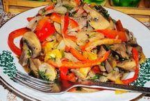 салаты грибные
