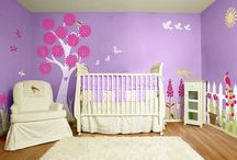 girls painted room
