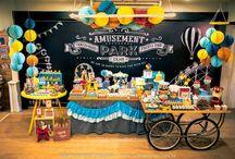 Festa parque de diversões
