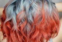 Colors hair