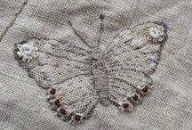 Monochrome embroidery