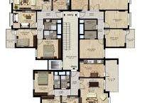 Katta 3 daire planları