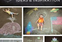 Chalk drawings