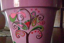 MACETAS PINTADAS ELIU / macetas pintadas a mano