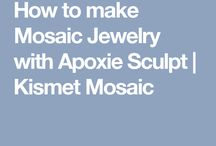 How to make mosaic jewelry / Detailed steps on my first piece using Apoxie Sculpt.