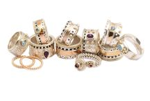 Group of rings / a collection of the most beautiful rings in our collection