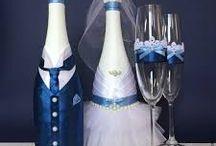 regalo novios botellas decoradas